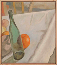 Bottiglia verde con arancia